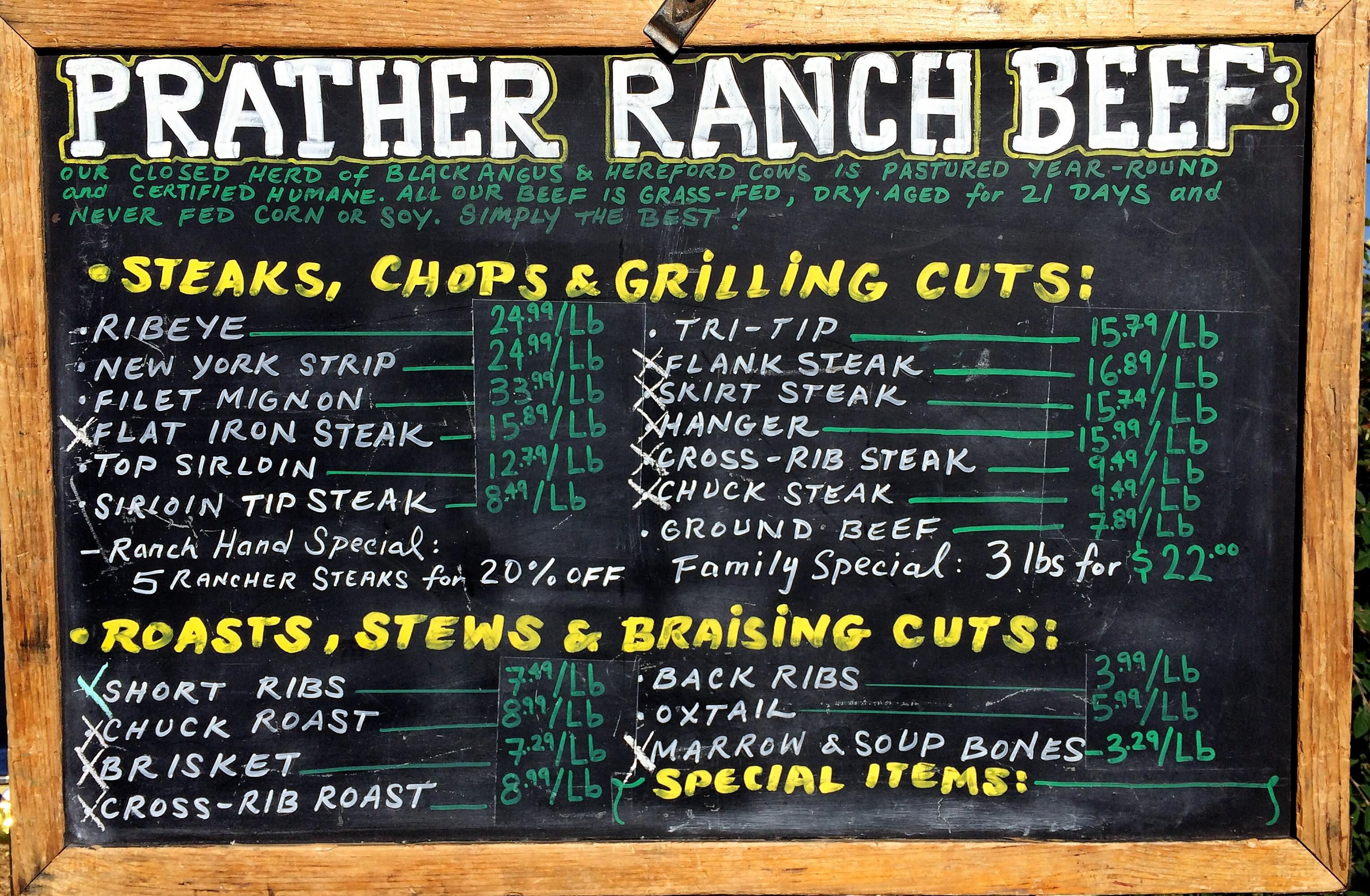 Prather Ranch Beef