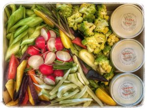 Farmers' Market Vegetables & Dips