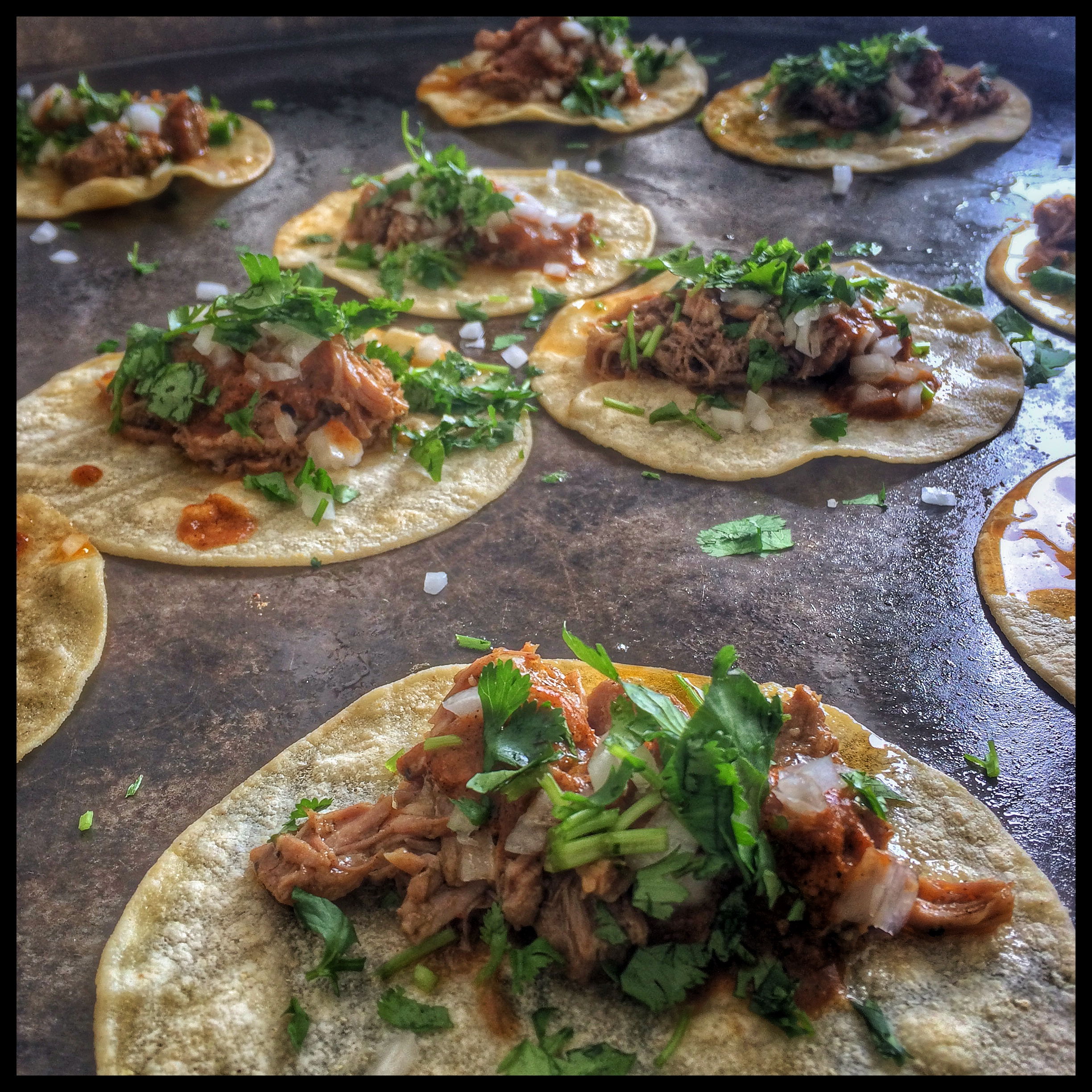 Braised Pork Leg Tacos
