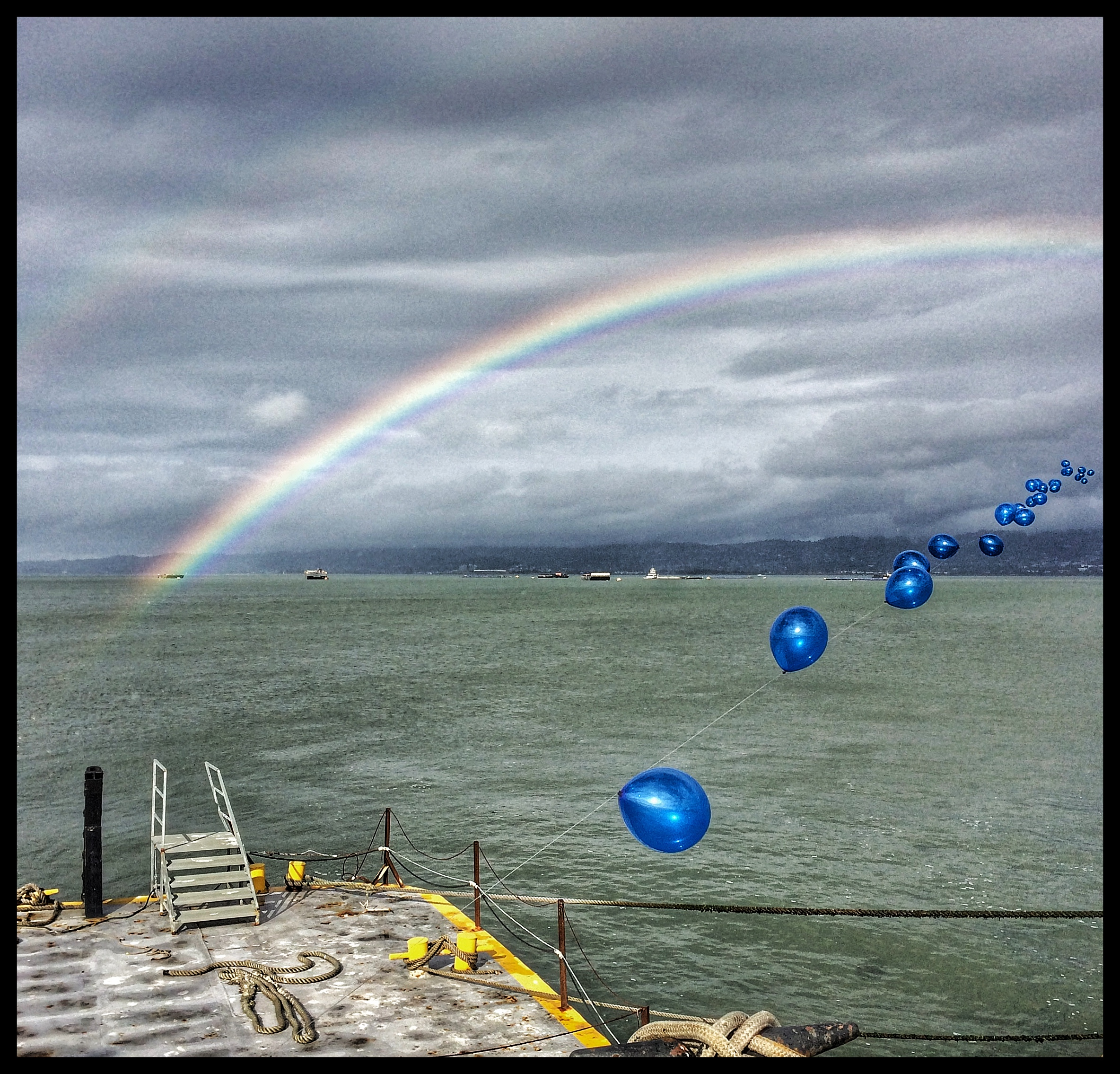 Double Rainbows and Blue Balloons